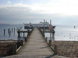 Ansicht Fähranleger am Haff - Ausflugsschiff